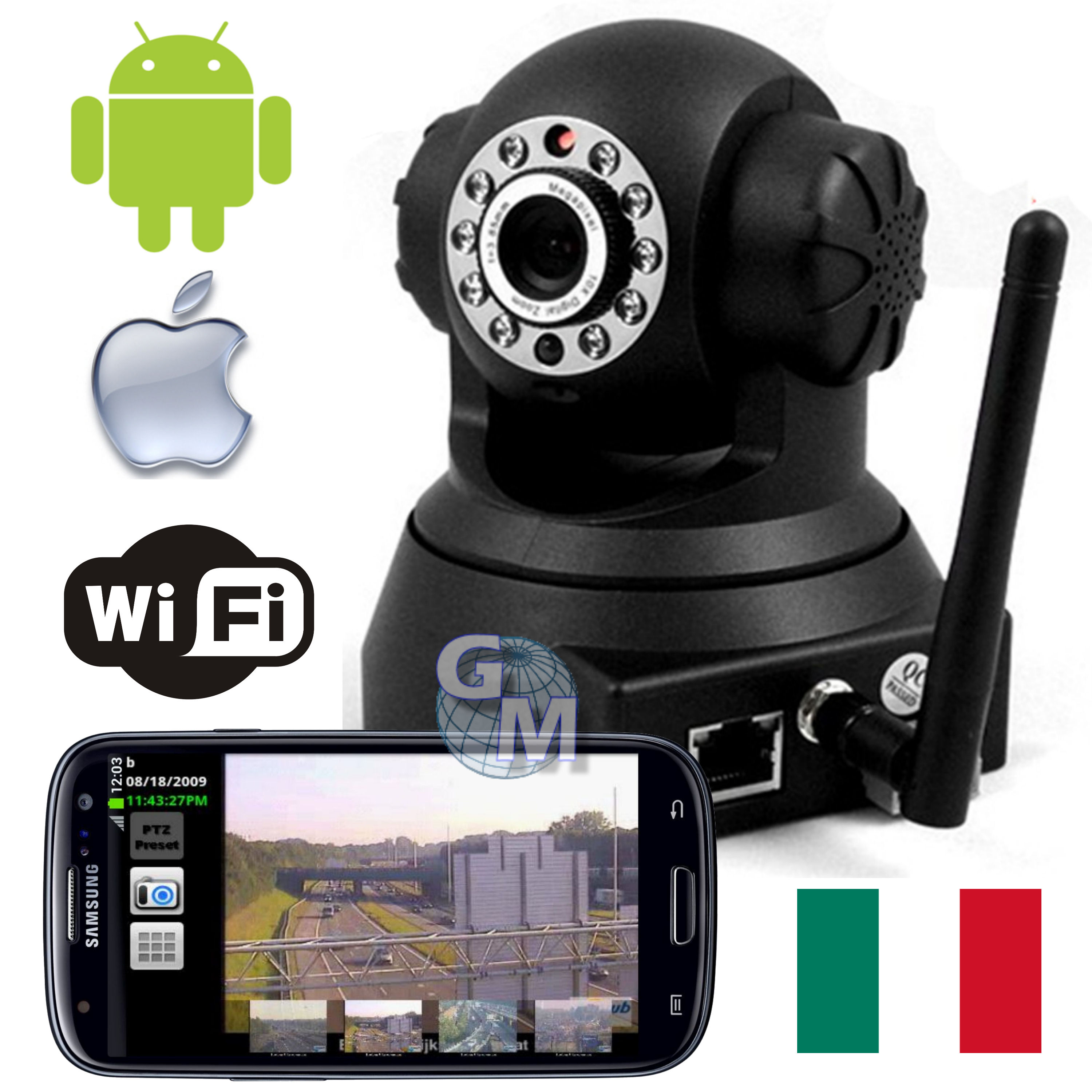 Ip camera ipcamera wifi motorizzata android iphone led ir for App per vedere telecamere su android